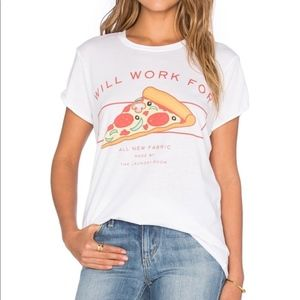 The laundry room will work for pizza t-shirt